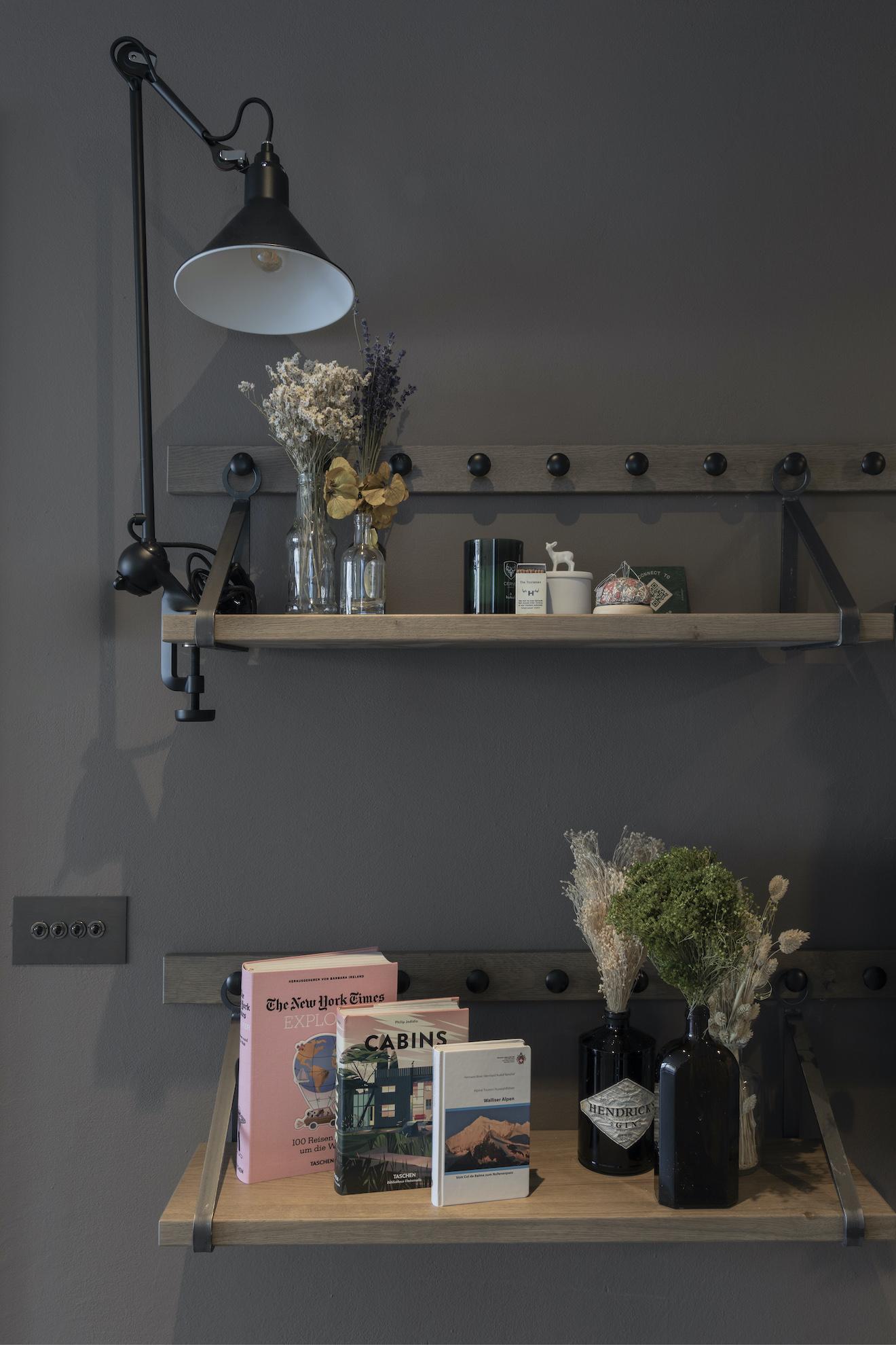 Bookshelf with decoration